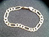 Gold Figaro Bracelet 14K Yellow Gold 8dwt